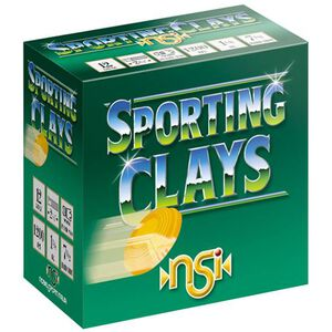 "NobelSport Target Sporting Clays 20 Gauge 2-3/4"" #8 Lead 7/8 Ounce 25 Round Box"