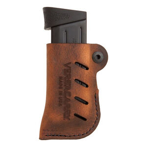 VersaCarry Adjustable Leather Magazine Holster OWB Ambidextrous Single Stack Magazines Leather Distressed Brown 72101