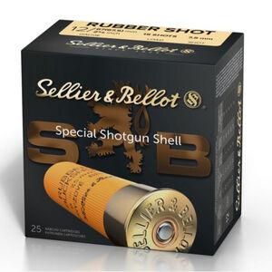 """Sellier & Bellot Rubber Buckshot 12 Gauge Shotshell 250 Rounds 2 3/4"""" 15 Shot 7.5mm"""
