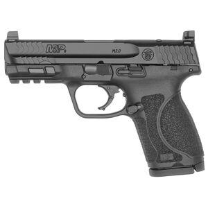 "S&W M&P9 M2.0 Compact 9mm Luger Semi Auto Pistol 4"" Barrel 15 Rounds  Optics Ready No Manual Safety Armornite Finish Matte Black"