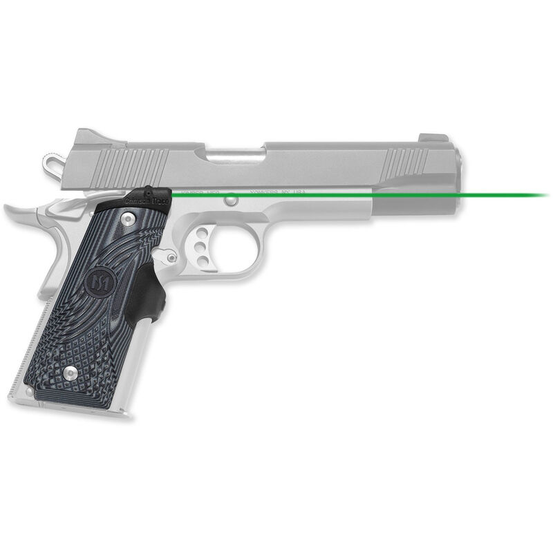 Crimson Trace Master Series LaserGrip 1911 Full Size Green Laser 4x 2016 Batteries G10 Black and Grey