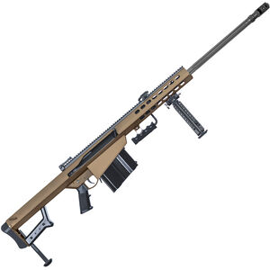 "Barrett M82A1 .416 Barrett Semi-Auto Rifle 29"" Barrel 10 Rounds Steel Receiver Coyote Cerakote Finish"