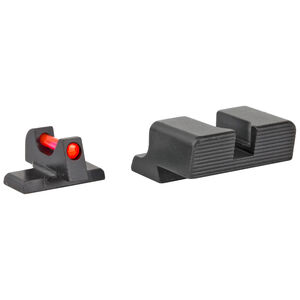 Trijicon Fiber Optic Sight Set Fits Springfield Armory XD/XD(M)/XD Mod 2 Red Fiber Front/Blacked Out Rear Steel Housing Matte Black Finish