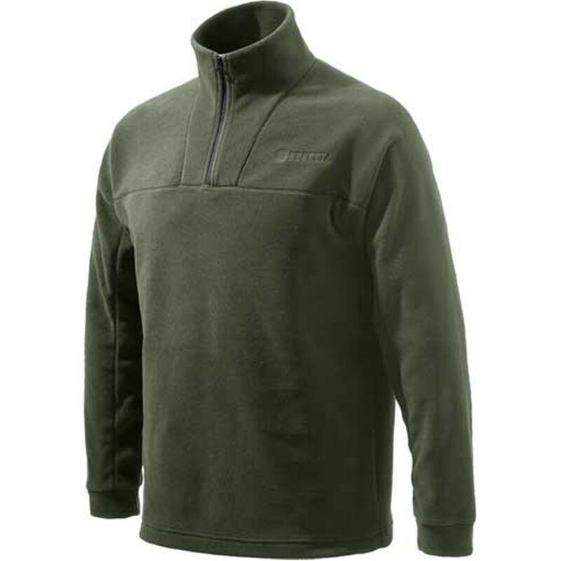 Beretta Fleece Jacket Pull Over 1/4 Zip Trident Logo Green 2X-Large