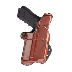 Aker Leather Model 267 Nightguard For Glock 17 With Light Paddle Holster Right Hand Leather Tan