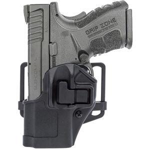 BLACKHAWK! SERPA CQC Belt/Paddle Holster Springfield XD Sub Compact Left Hand Polymer Black 410531BK-L