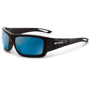 Eye Safety Systems Credence Ballistic Sunglasses Black Frame Mirrored Blue Lens Black EE9015-08