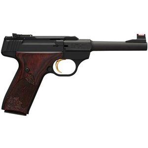"Browning Buck Mark Challenge Rosewood Semi Auto Rimfire Handgun .22 LR 5.5"" Barrel 10 Rounds Rosewood Grips Aluminum Alloy Frame Matte Black Finish 051519490"