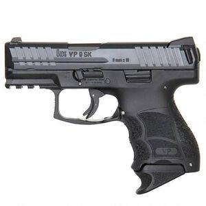 "H&K VP9SK Semi Auto Pistol 9mm Luger 3.39"" Barrel 10 Rounds Striker Fired Night Sights Polymer Frame Black Finish"