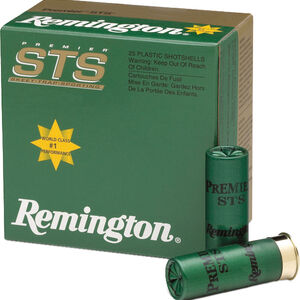 "Remington Premier STS Target Loads 12 Gauge Ammunition 2-3/4"" Shell #8 Lead Shot 1-1/8oz 1235fps"