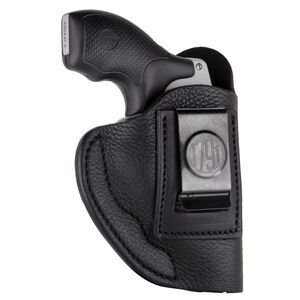 1791 Gunleather Smooth SCH-2 Multi-Fit IWB Concealment Holster for J Frame Revolvers Right Hand Draw Leather Black