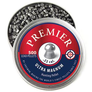 Crosman Premier Ultra Magnum Domed Pellets Lead 14.3 Grain 500 Count LDP22