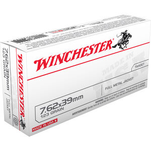 Winchester USA 7.62x39mm Ammunition 123 Grain FMJ 2355 fps