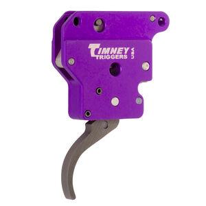 Timney Trigger Remington 700 Benchrest Single-Stage Trigger Curved Trigger Shoe No Safety/Bolt Stop Aluminum Purple Housing