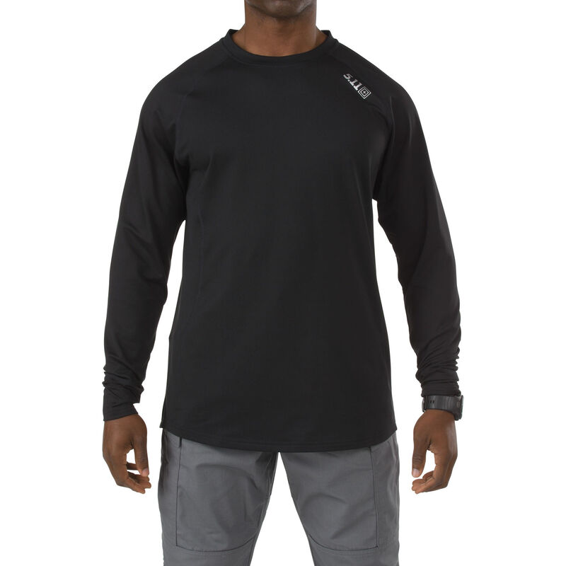 5.11 Tactical Sub Z Crew Men's Long Sleeve Shirt XL Polyester/Spandex Steam 40148093XL