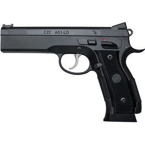 "CZ-USA Custom Shop A01-LD Semi Auto Pistol 9mm Luger 4.9"" Barrel 19 Rounds Black 91731"
