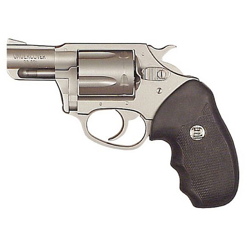 """Charter Arms Undercover Revolver .38 Special 2"""" Barrel 5 Rounds Stainless Finish Black Rubber Grips 73820"""