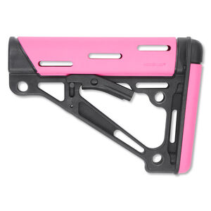 Hogue AR-15 Collapsible Carbine Buttstock Mil-Spec OverMolded Pink 15740