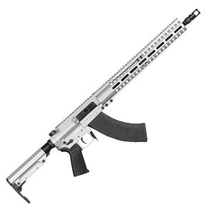 "CMMG Resolute 300 Mk47 7.62x39mm AR-15 Style Semi Auto Rifle 16"" Barrel 30 Round AK-47 Magazine RML15 M-LOK Handguard RipStock Collapsible Stock Titanium Finish"