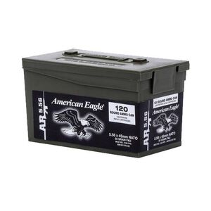 Federal American Eagle 5.56 NATO Ammunition, 600 Rounds, 55 Grain XM193