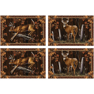 "River's Edge Products Deer 4 Piece Placement Set 18""x12"" 1660"