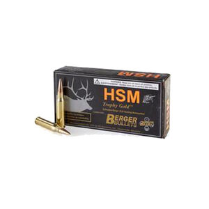 HSM Trophy Gold .308 Winchester Ammuniton 20 Rounds Berger VLD 168 Grains BER308168VLD