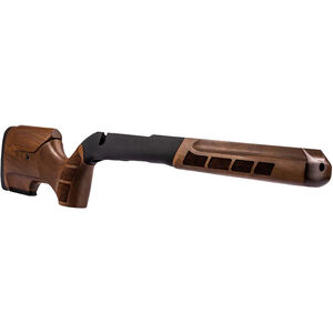 WOOX Exactus Drop-In Chassis Adjustable Cheek/Length of Pull Ambidextrous Fits Savage 110 DBM Short Action Aluminum/Walnut