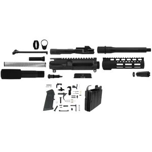 "TacFire AR-15 Complete Pistol Build Kit 9mm 7"" Barrel Colt SMG Mag Well Adaptor Lower Parts Kit Matte Black Finish"