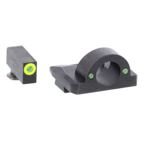 Ameriglo Sight Set for GLOCK Green Tritium Front Dot with LumiGreen Outline and Green Tritium Rear Dots