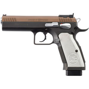 "EAA Tanfoglio Witness Stock II Xtreme 9mm Luger Semi Auto Pistol 4.5"" Barrel 17 Rounds Black Steel Frame Duo-Tone Finish"