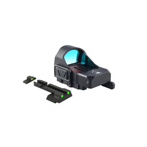 Meprolight MicroRDS Red Dot Micro Sight With H&K VP9 Quick Detach Adapter and Backup Sights Black ML880505