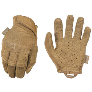 Mechanix Wear Specialty Vent Coyote Shooting Gloves Size Medium Synthetic Coyote