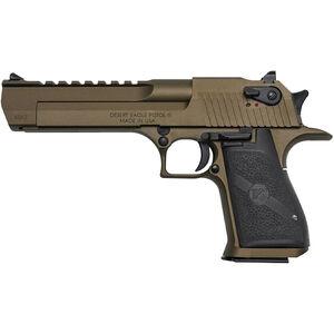 "Magnum Research Desert Eagle Mark XIX Semi Auto Handgun .50 AE 6"" Barrel 7 Rounds Fixed Sights Black Polymer Grips Burnt Bronze Finish DE50BB"