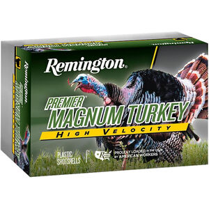 "Remington Premier Magnum Turkey High Velocity 12 Gauge Ammunition 5 Rounds 3"" Shell #4 Copper-Plated Hardened Lead Shot 1-3/4oz 1300fps"