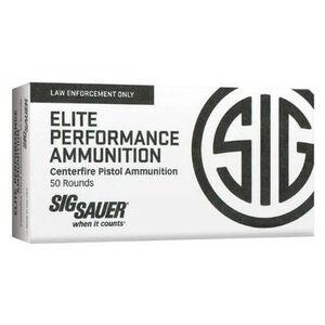 SIG Sauer Elite Performance V-Crown Ammunition 50 Rounds 9mm Luger 115 Grain V-Crown Jacketed Hollow Point Projectile