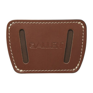 Allen Glenwood Leather Belt Slide Holster Fits Small Frame Handguns Ambidextrous Brown