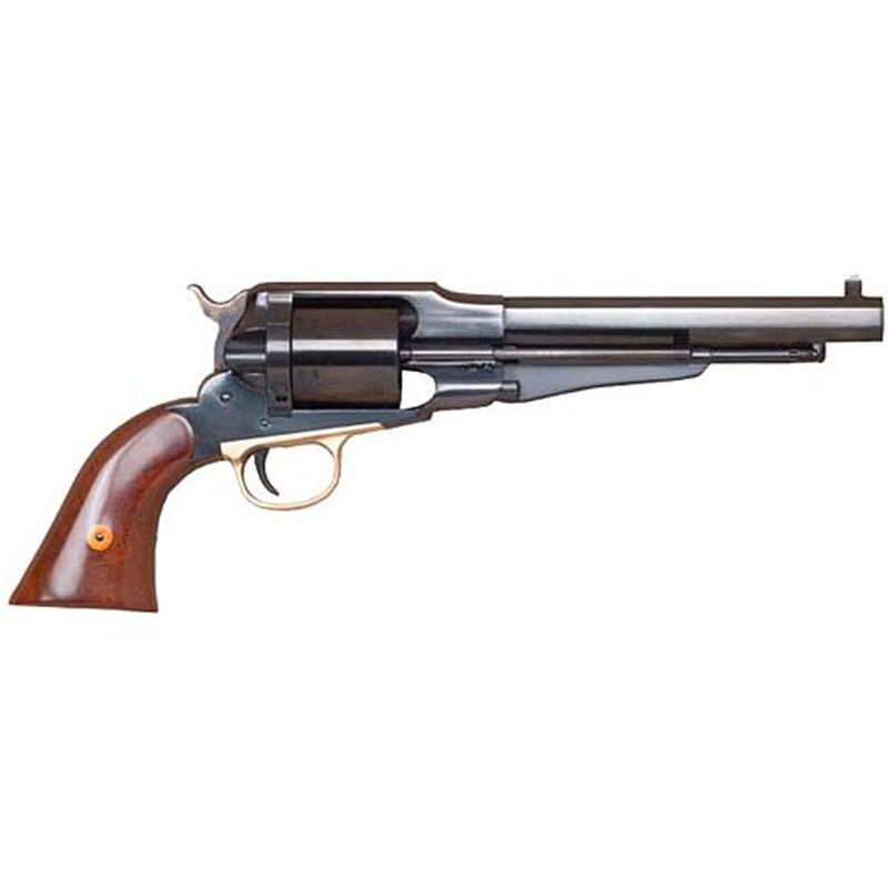 "Cimarron 1858 New Model Army Revolver .44-40 Caliber 6 Rounds 8"" Barrel Fixed Sights Walnut Grips Blued"
