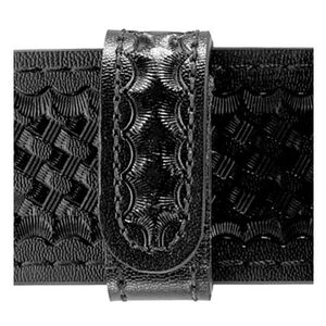 "Safariland Model 62 Belt Keeper 4-Pack 2.25"" Duty Belt Hidden Snaps Basket Weave Cordovan Black 62-4-03HS"