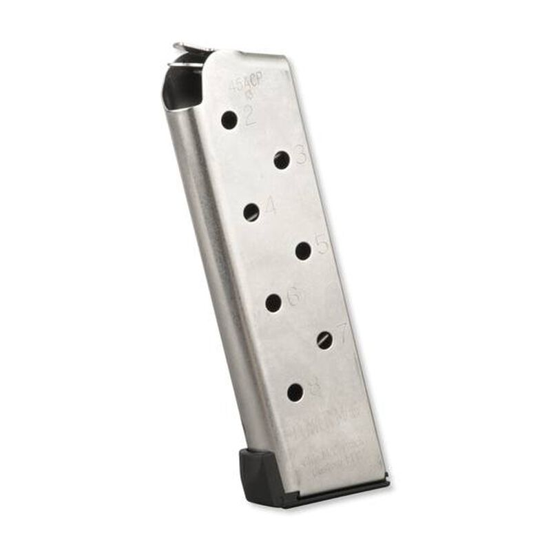 Chip McCormick Compact POWER MAG 1911 Magazine .45 ACP 8 Rounds Stainless Steel M-PM-45CP8