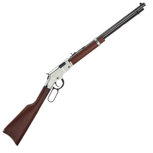 "Henry Silver Eagle Lever Action Rifle .22 LR 20"" Octagonal Barrel 12 Rounds Nickel Engraved Receiver  Walnut Stock Blued H004SE"
