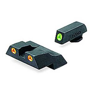 Meprolight Glock Tru-Dot Night Sight G26 & G27 Fixed Set Green and Orange ML10226O