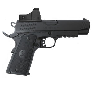 "EAA GiRSAN MC1911C Commander Model 9mm Luger Semi Auto Pistol 4.4"" Barrel 9 Rounds Red Dot Optic Ambidextrous Safety Black Finish"