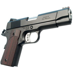 """Ed Brown CCO LW 9mm Luger Semi Auto Pistol 4.25"""" Barrel 8 Rounds Officer Frame Commander Slide FO Front Sight Synthetic Grips Matte Black Finish"""