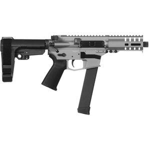 "CMMG Banshee 300 MkGs 9mm Luger AR-15 Semi Auto Pistol 5"" Barrel 33 Rounds Uses GLOCK Style Magazines RML4 M-LOK Handguard CMMG Micro/CQB RipBrace Titanium Finish"