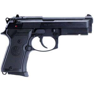 "Beretta Model 92FS Compact Semi Automatic Handgun 9mm Luger 4.25"" Barrel 13 Rounds 3 Dot Sight Rubber Grips Black Matte Finish J90C9F10"