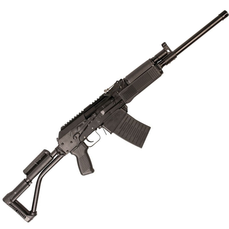 "Molot/FIME VEPR 12 Gauge Semi Auto Shotgun 3' Chamber 19"" Threaded Barrel 5 Round Box Magazine Polymer Furniture Left Side Folding Tubular Stock Black"