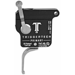Trigger Tech Remington 700 Primary Drop In Replacement Trigger Right Hand/No Bolt Release/Flat Lever Stainless Steel Finish