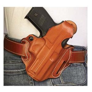 DeSantis Thumb Break Scabbard HK VP9/VP40 Belt Holster Right Hand Leather Plain Tan 001TA5AZ0