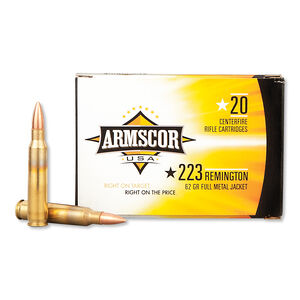 Armscor USA .223 Rem Ammunition 20 Rounds 62 Grain FMJ 3050 fps