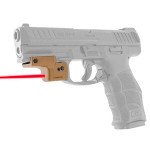 LaserLyte Lyte Ryder Laser Sight Universal Rail Mount Red Laser 392 Batteries Aluminum/Polymer Tan UTA-FSLT